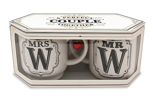 Alphabet Mugs Double Gift Box