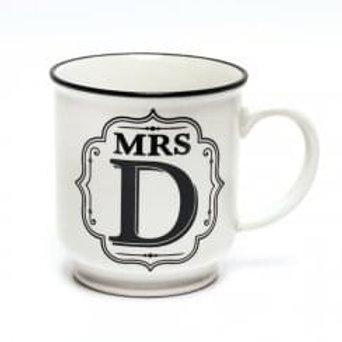 Alphabet Mugs - Mrs D