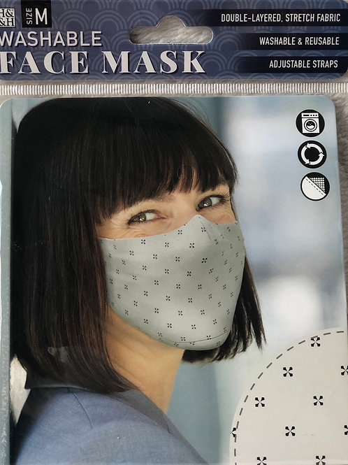 Black Cross on Cream Face Mask (M) - 0015