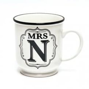 Alphabet Mugs - Mrs N