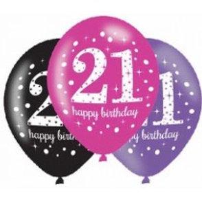 Age 21 Latex Balloons