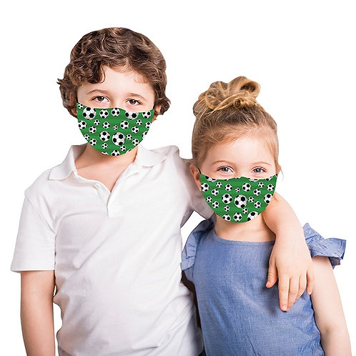 Kids Green Football Face Mask