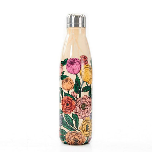 Beige Peonies Thermal Bottle
