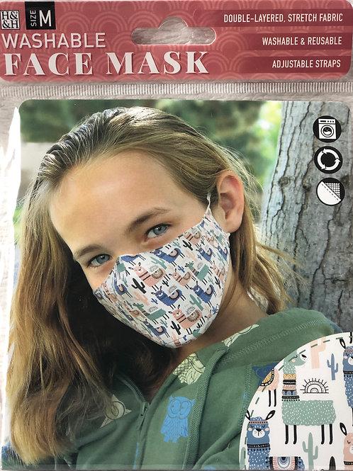 Llamas Face Mask (M) - 0019
