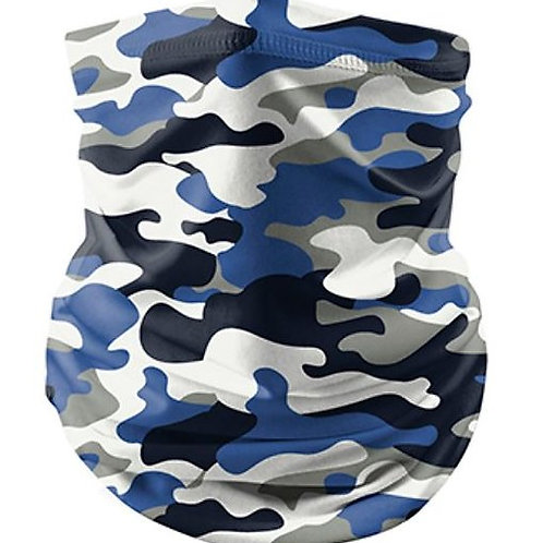 Blue Camo Reusable Bandana Mask