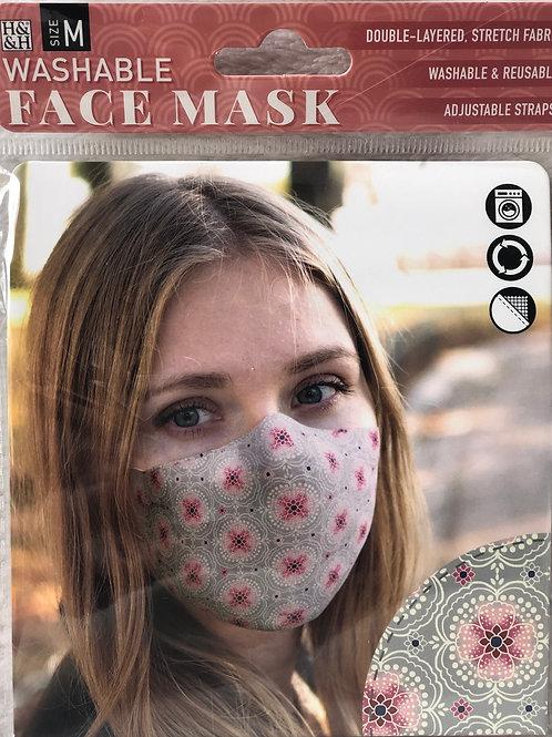 Pink Circle Face Mask (M) - 0004