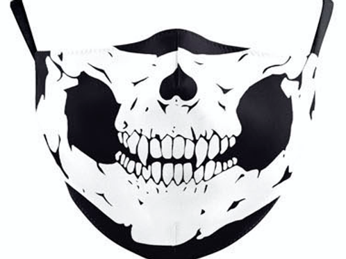 Skull Face Reusable Face Mask