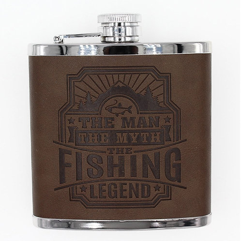 Personalised Hip Flask - Fishing