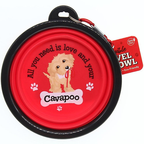 Wags & Whiskers Travel Pet Bowl - Cavapoo