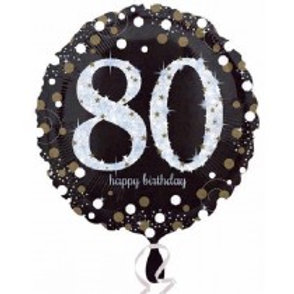 80th Birthday Foil Balloon