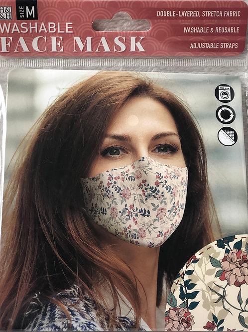 Botanical Floral Face Mask (M) - 0008