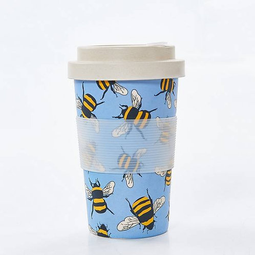 Blue Bees Bamboo Cup