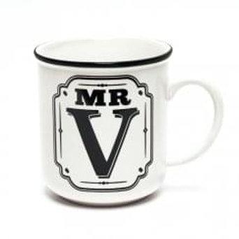 Alphabet Mugs - Mr V