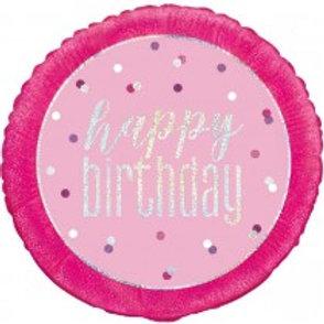 Pink Birthday Foil Balloon
