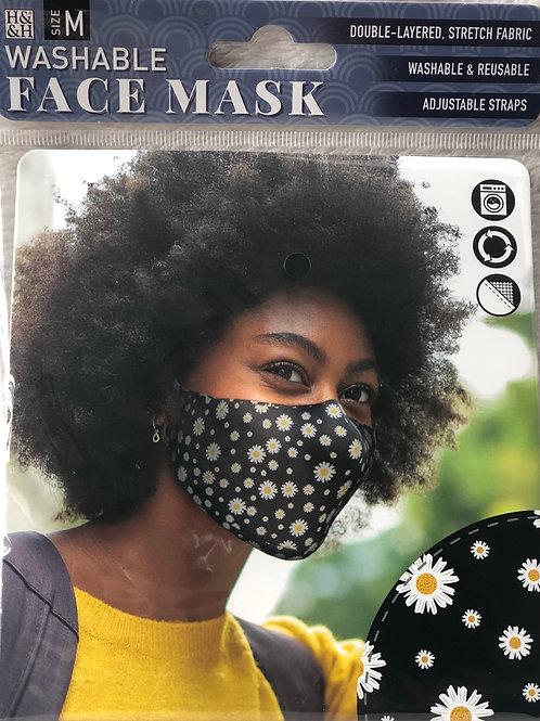 Daisy Black Face Mask (M) - 0001