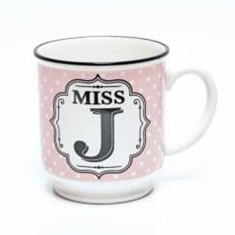 Alphabet Mugs - Miss J
