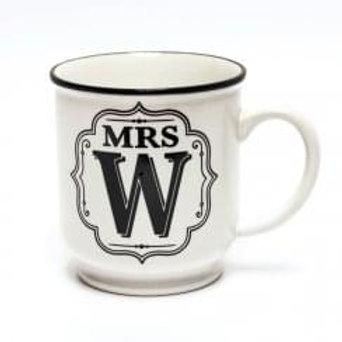 Alphabet Mugs - Mrs W