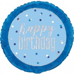 Glitz Blue Birthday Foil Balloon