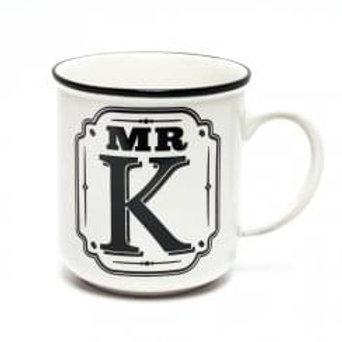 Alphabet Mugs - Mr K