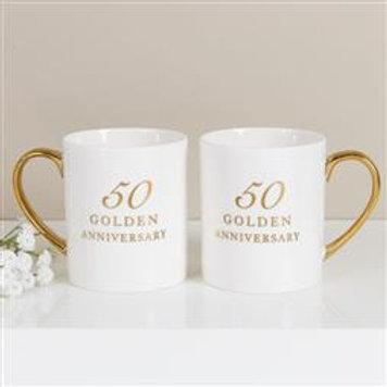 50th Anniversary China Mugs