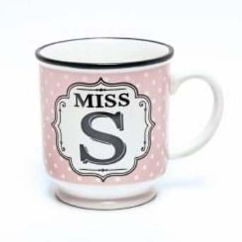 Alphabet Mugs - Mrs S