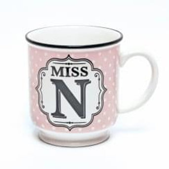 Alphabet Mugs - Miss N