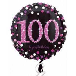 Pink Sparkles Birthday Foil Balloon