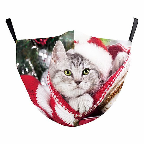 Christmas Cat Reusable Face Mask