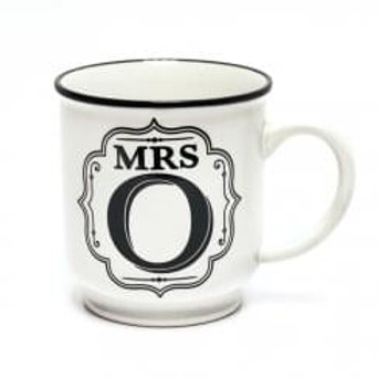 Alphabet Mugs - Mrs O