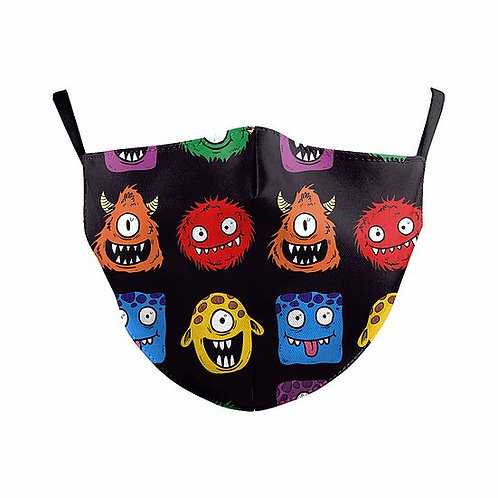 Children Alien Monsters Reusable Face Mask