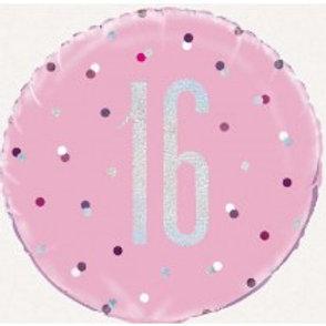 16th Birthday Foil Balloon