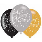 Latex Happy Birthday Balloons