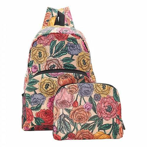 Beige Peonies Backpack