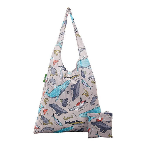 Grey Sea Creatures Shopper