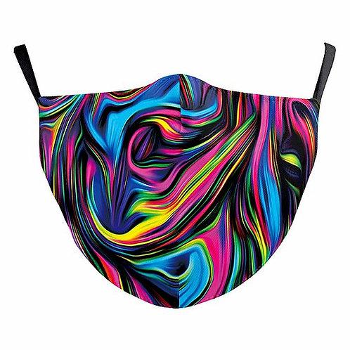 Multi Swirls Reusable Face Mask