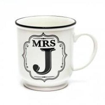 Alphabet Mugs - Mrs J