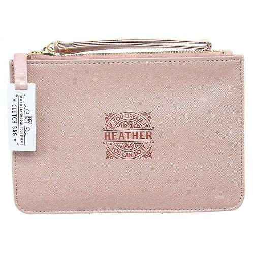 Personalised Clutch Bag - Heather