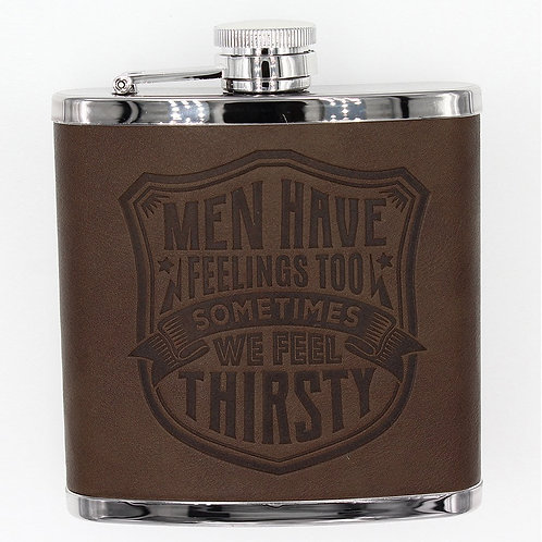 Personalised Hip Flask - Men Have Feelings Too