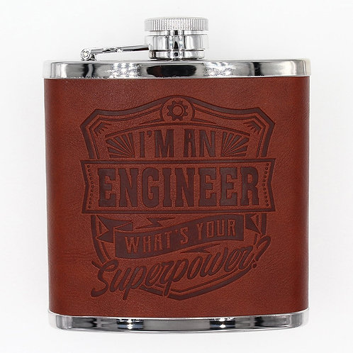 Personalised Hip Flask - Engineer