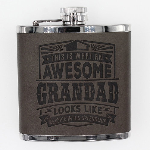 Personalised Hip Flask - Awesome Grandad