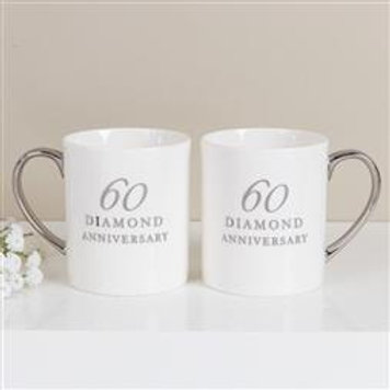 60th Anniversary China Mugs