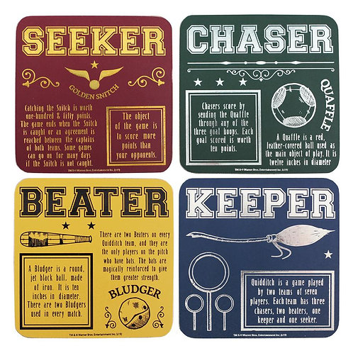 Harry Potter Set of 4 Coasters - Quidditch