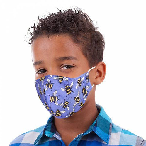Kids Blue Bee Face Cover