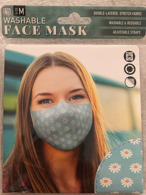 Daisy Blue Face Mask (M) - 0003