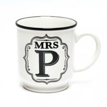 Alphabet Mugs - Mrs P