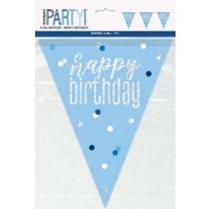 Blue Birthday Pennant Banner