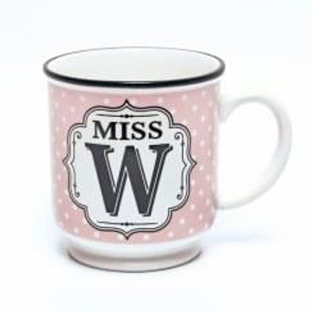 Alphabet Mugs - Mrs W