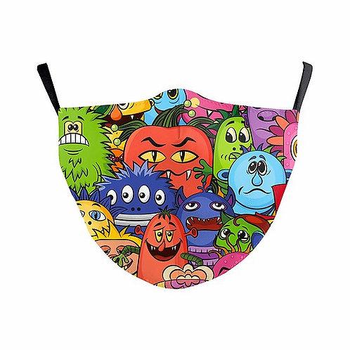 Children Colourful Monsters Reusable Face Mask