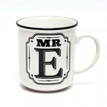 Alphabet Mugs - Mr E