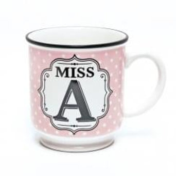 Alphabet Mugs - Miss A